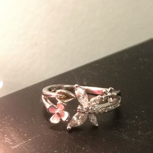 Jewelry - Sterling Silver cubic zirconia butterfly ring